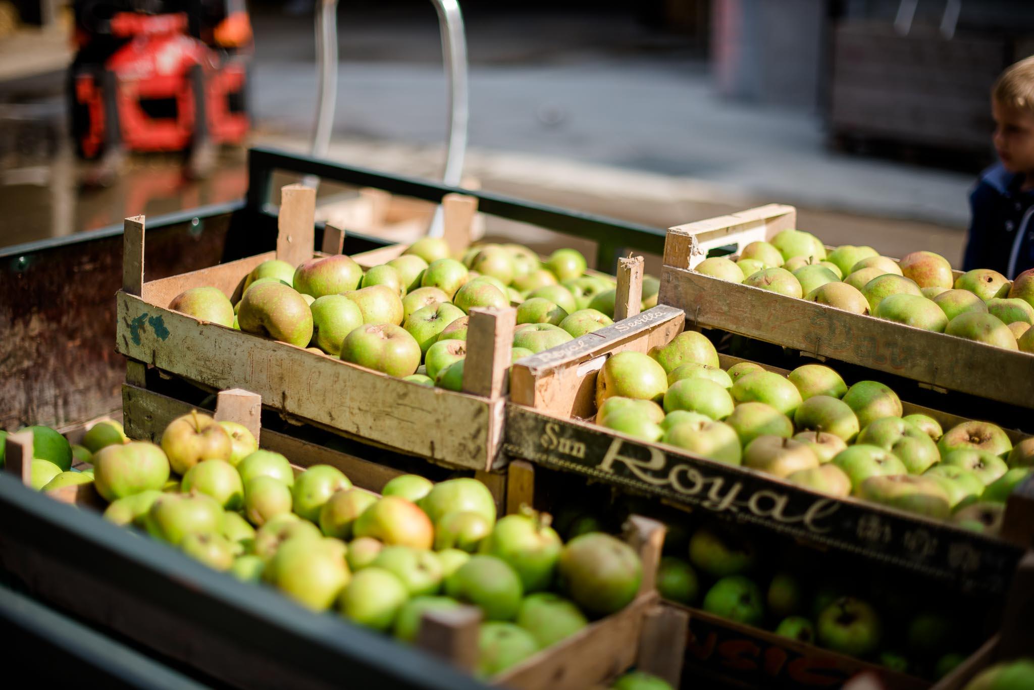 De Mobiele Fruitpers bij Kaasboerderij Schellach